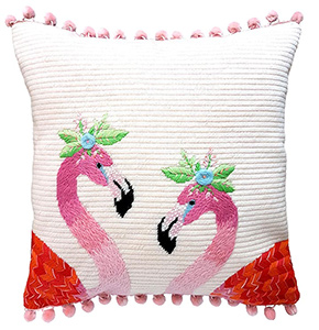 Flamingos Needlepoint Cushion Kit - Product of New Zealand