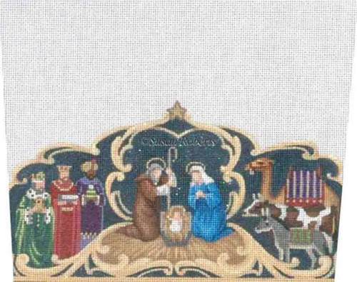Nativity - Hand-Painted Needlepoint Canvas