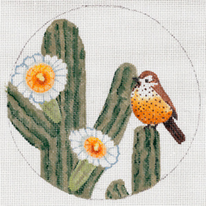 Arizona Christmas Ornament - Hand Painted Needlepoint Canvas from Trubey Designs