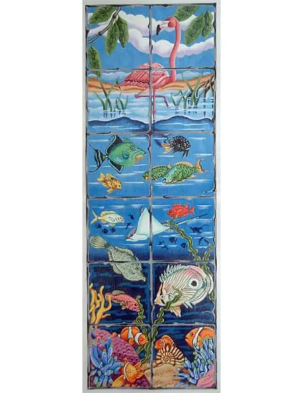 Undersea Fire Screen Hand Painted Canvas from Trubey Designs #3