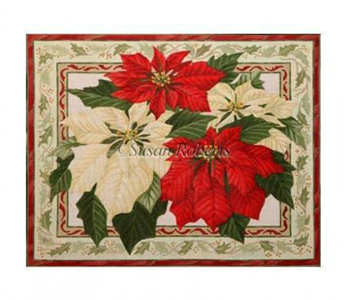 Poinsettias - From Tapestry Tent by Liz Goodrick-Dillon