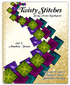 Twisty Stitches; String Art for Needlepoint, Vol 1
