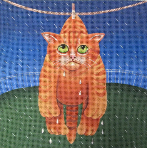 Dryin' in the Rain Hand  Painted Canvas by Vicky Mount
