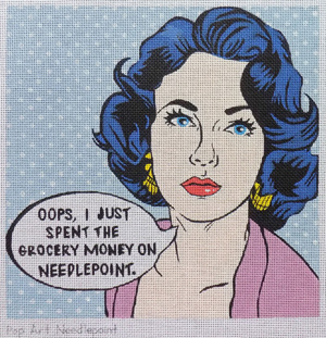 Pop Art Needlepoint - Grocery Money