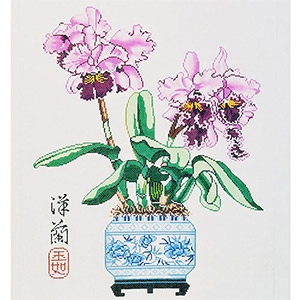 Orchid & Cattleya Hand-painted Wall Hanging Canvas