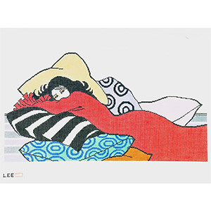 Pillow Girl Hand-painted Wall Hanging Canvas