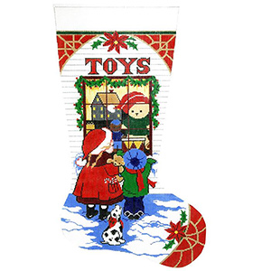 Toys Hand-painted Christmas Stocking Canvas