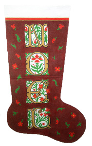 Noel Hand-painted Christmas Stocking Canvas
