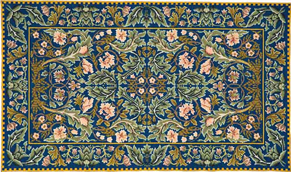 Beth Russell Needlepoint - Acanthus Collection - Acanthus Rug - Kit