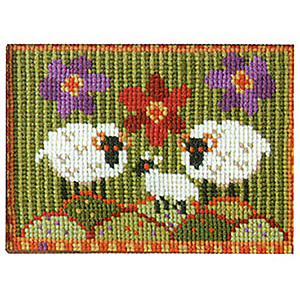 Animal Fayre Needlepoint Miniatures - Wee Three Sheep