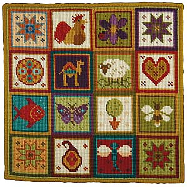Animal Fayre Needlepoint Cushions Kit - Little Patchwork