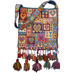 Animal Fayre Needlepoint Bag Little Heart Patchwork Kit
