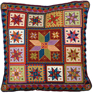 Animal Fayre Needlepoint Cushions Kit - Star Tile