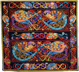 Animal Fayre Needlepoint Tapestry - Celtic Peacocks