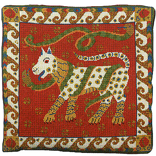 Animal Fayre Needlepoint Cushions Kit - Dog & Snakes