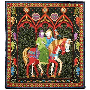 Animal Fayre Needlepoint Tapestry - Green Lady