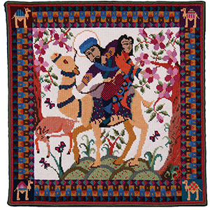 Animal Fayre Needlepoint Tapestry - Hunter King
