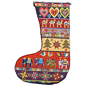 Animal Fayre Needlepoint Christmas Stocking - Christmas Stocking