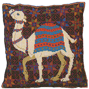 Animal Fayre Needlepoint Cushions Kit - Camel