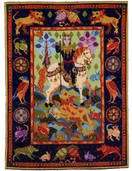 Animal Fayre Needlepoint Tapestry - Lion Hunt