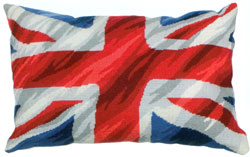 Union Jack Needlepoint Cushion Kit from the Anchor Living Collection