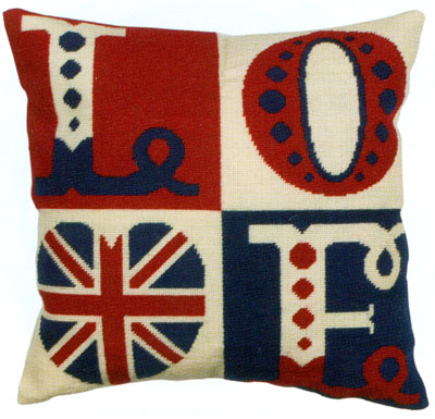 Love Letters Needlepoint Cushion Kit from the Anchor Living Collection