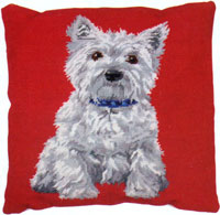 Westie Needlepoint Cushion Kit from the Anchor Living Collection