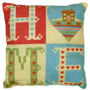 Home Sweet Home Needlepoint Cushion Kit from the Anchor Living Collection