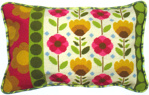 Retro Needlepoint Cushion Kit from the Anchor Living Collection