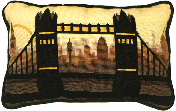 London Needlepoint Cushion Kit from the Anchor Living Collection