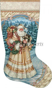 Village Delivery - 13 Count Hand Painted Needlepoint Stocking Canvas