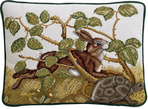 Beth Russell Needlepoint - Aesops Collection - Hare & Tortoise Pillow/Picture - Kit