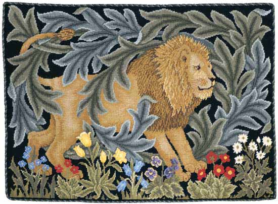 Beth Russell Needlepoint - Forest Collection - Lion Pillow/Hanging - Kit