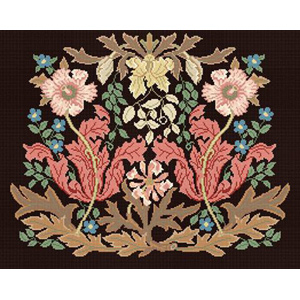 Beth Russell Needlepoint William Morris Compton Chairseat Kit - Brown