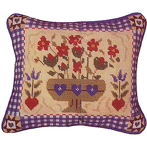 Primavera Needlepoint Cushion Kit - Shaker Flowers