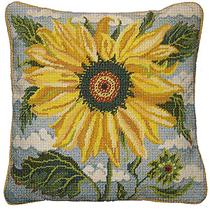 Primavera Needlepoint Cushion Kit - Sunflower Heaven