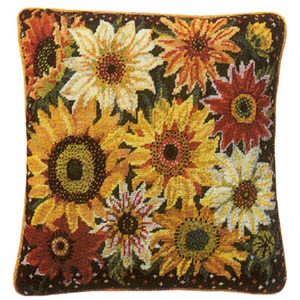 Primavera Needlepoint Cushion Kit - Sunflower Harvest