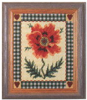 Primavera Needlepoint Picture Kit - Shaker Poppy
