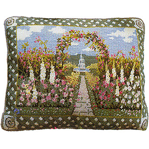 Primavera Needlepoint Cushion Kit - Secret Garden