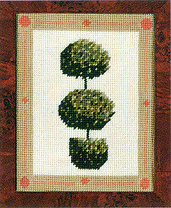 Primavera Needlepoint Picture Kit - Topiary Tree with Spheres
