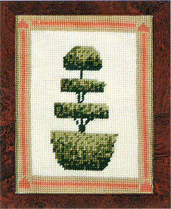 Primavera Needlepoint Picture Kit - Layered Topiary Tree