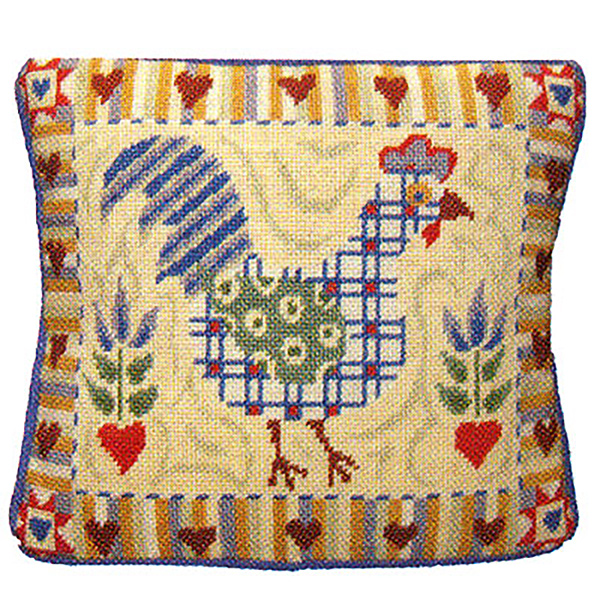 Primavera Needlepoint Cushion Kit - Shaker Cockerel
