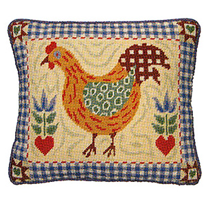 Primavera Needlepoint Cushion Kit - Hen Shaker