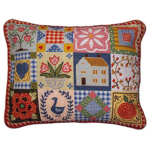 Primavera Needlepoint Cushion Kit - Shaker Patchwork