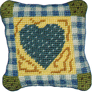 Primavera Needlepoint Pincushion Kit - Gingham Heart