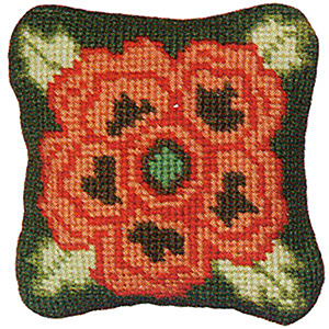 Primavera Needlepoint Pincushion Kit - Tudor Rose