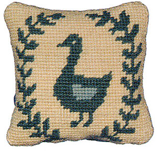 Primavera Needlepoint Pincushion Kit - Goose