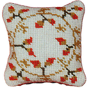 Primavera Needlepoint Pincushion Kit - Garland of Berries