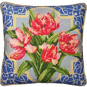 Primavera Cushion Kit - Pink Parrot Tulips