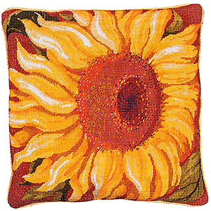 Primavera Needlepoint Cushion Kit - Single Sunflower
